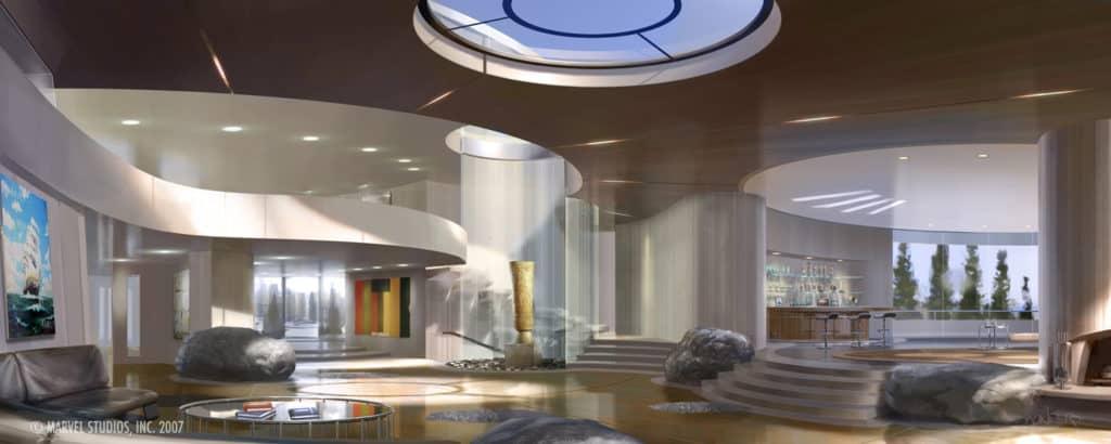Inside Tony Stark's House via Phil Saunders